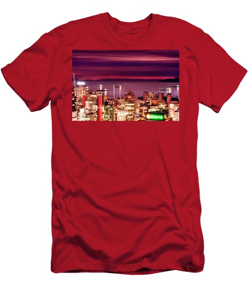 Romantic English Bay Men's T-Shirt (Slim Fit) by Amyn Nasser
