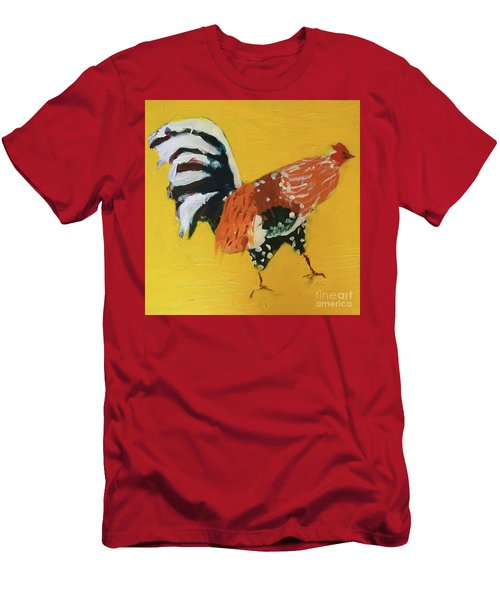 Men's T-Shirt (Athletic Fit) featuring the painting Rooster 2 by Donald J Ryker III