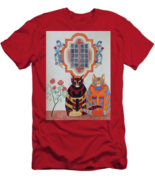 Rosa And Pedro Of The Rose Window Of Mission San Jose Men's T-Shirt (Athletic Fit)