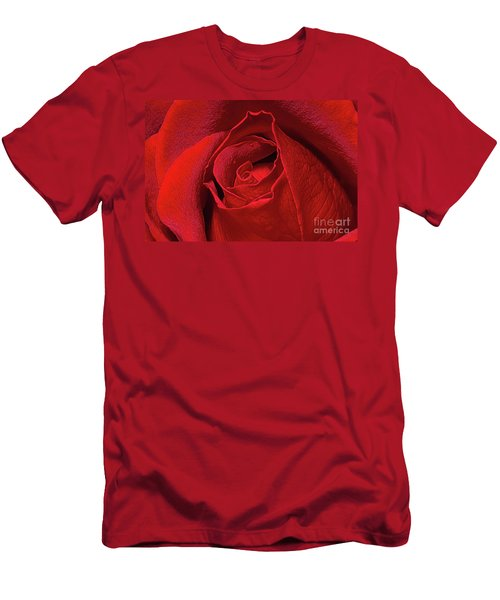 Men's T-Shirt (Athletic Fit) featuring the photograph Rose Bud by Ray Shiu