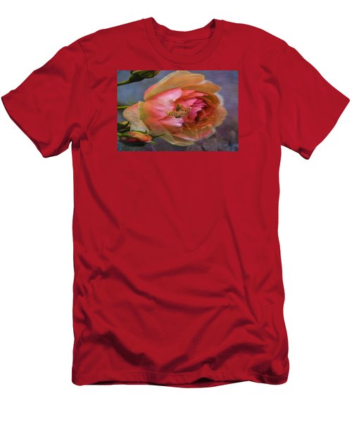 Rose Buttefly Men's T-Shirt (Athletic Fit)