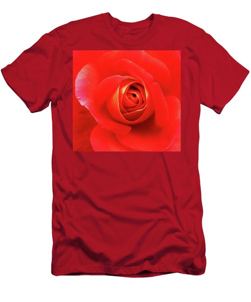 Rose Men's T-Shirt (Slim Fit) by Mary Ellen Frazee