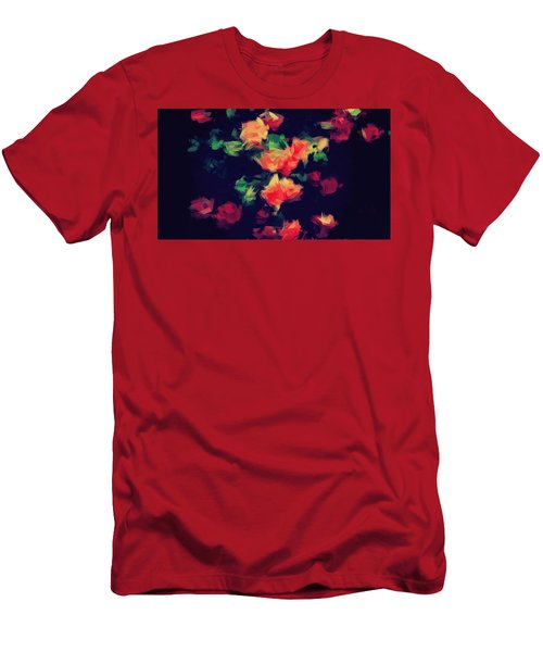 Roses Men's T-Shirt (Slim Fit) by Wolfgang Rain