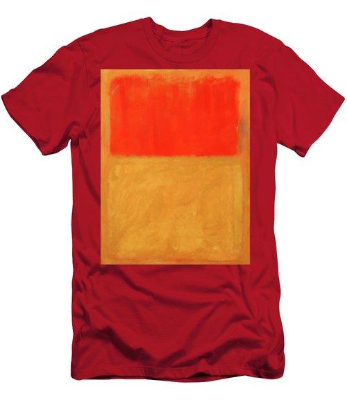 Rothko's Orange And Tan Men's T-Shirt (Athletic Fit)