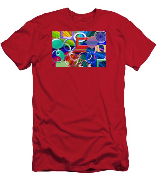 Rounded Men's T-Shirt (Slim Fit) by Tina M Wenger