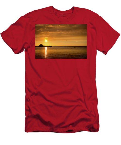 Men's T-Shirt (Athletic Fit) featuring the photograph Rowingteam by Onyonet  Photo Studios