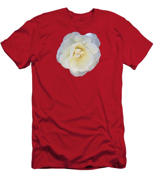 Royal White Rose Men's T-Shirt (Athletic Fit)