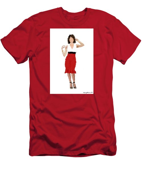 Men's T-Shirt (Slim Fit) featuring the digital art Ruby by Nancy Levan