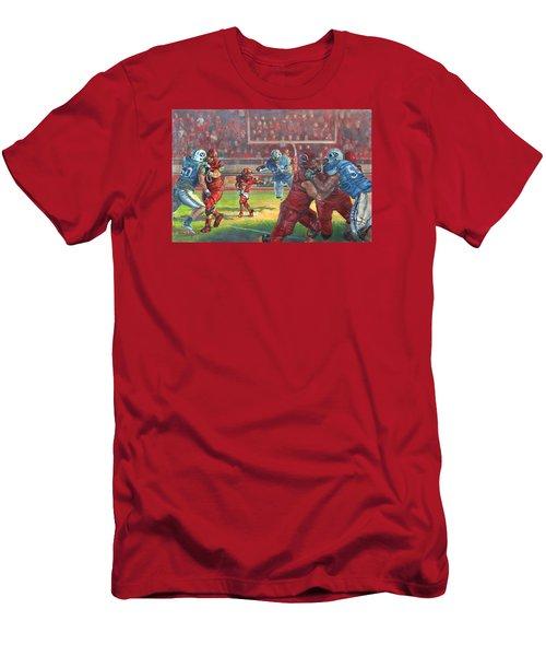 Running Courage Men's T-Shirt (Slim Fit) by Jeff Brimley