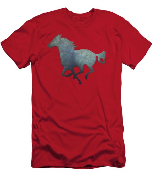 Running Horse Men's T-Shirt (Slim Fit) by Pamela Walton
