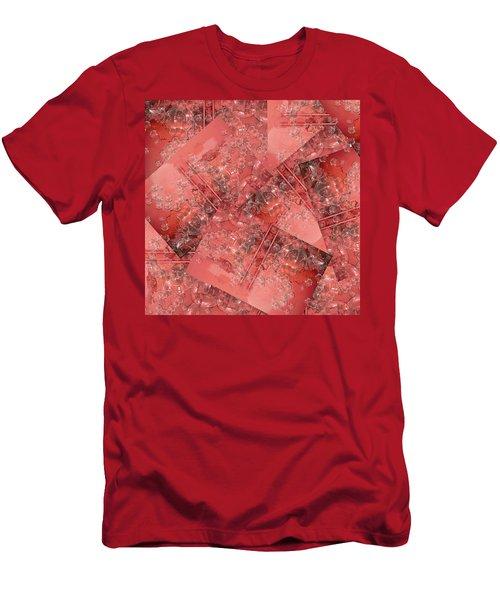 Russet Bubbles Men's T-Shirt (Athletic Fit)