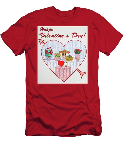 Ruthie-moo Happy Valentine's Day Men's T-Shirt (Athletic Fit)