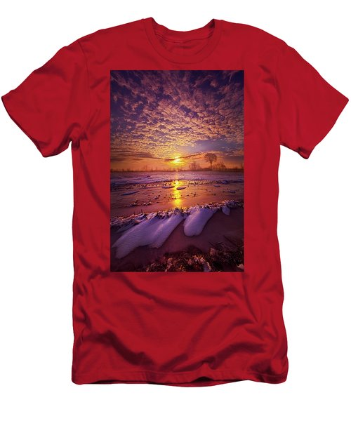 Men's T-Shirt (Slim Fit) featuring the photograph Safely Secluded In A Far Away Land by Phil Koch