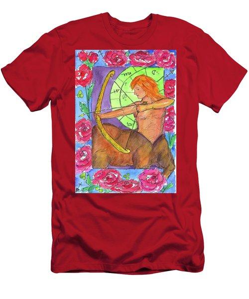 Men's T-Shirt (Slim Fit) featuring the painting Sagittarius by Cathie Richardson