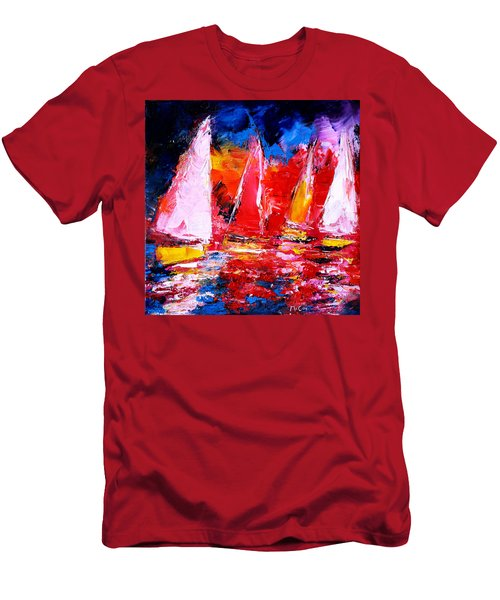 Sail To The Sunset Men's T-Shirt (Athletic Fit)