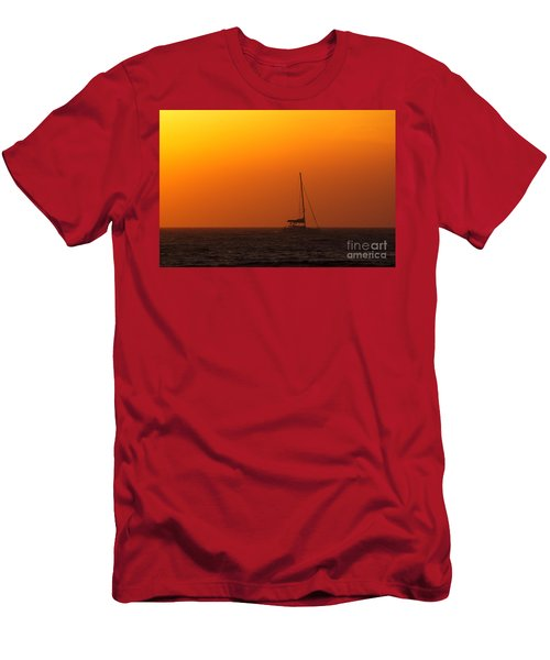 Men's T-Shirt (Athletic Fit) featuring the photograph Sailboat Waiting by Jeremy Hayden
