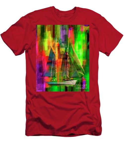 Sailing In The Abstract 2016 Men's T-Shirt (Athletic Fit)