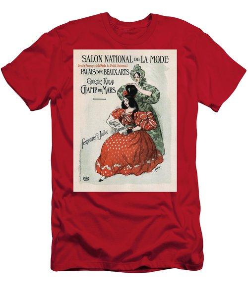 Salon National De La Mode - Palais Des Beaux Arts - Art Nouveau Exposition Poster - Paris Men's T-Shirt (Athletic Fit)