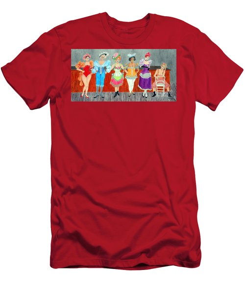 Saloon Sextet -- Portrait 1890's Women In Old West Men's T-Shirt (Athletic Fit)