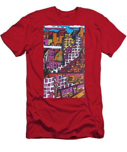 San Francisco  Men's T-Shirt (Slim Fit) by Don Koester
