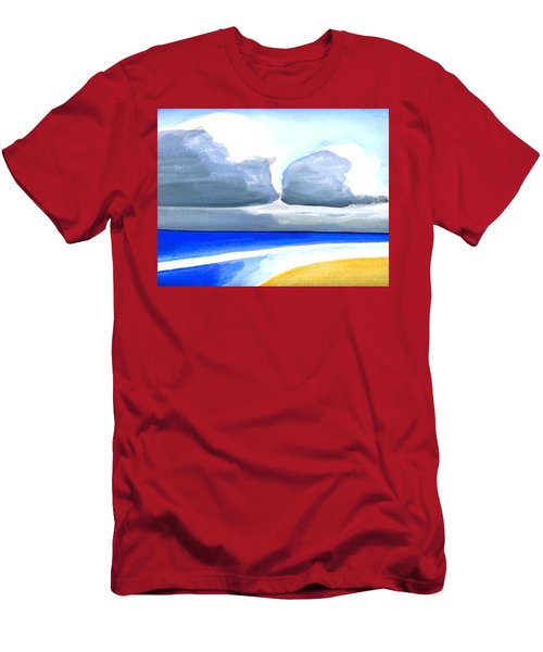 Men's T-Shirt (Slim Fit) featuring the painting San Juan Cloudscpe by Dick Sauer