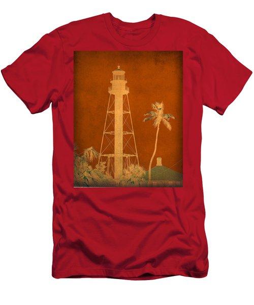 Sanibel Island Lighthouse Men's T-Shirt (Slim Fit) by Trish Tritz