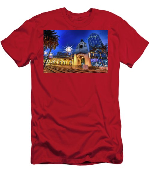 Santa Fe At Night Men's T-Shirt (Athletic Fit)