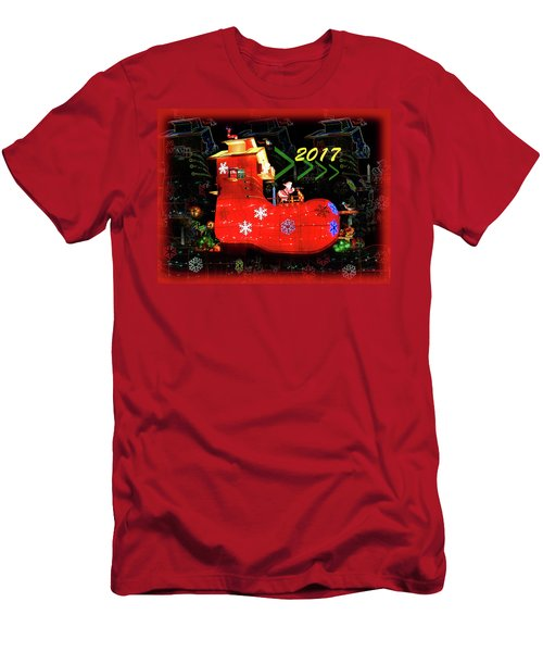 Santa's Magic Stocking Men's T-Shirt (Athletic Fit)