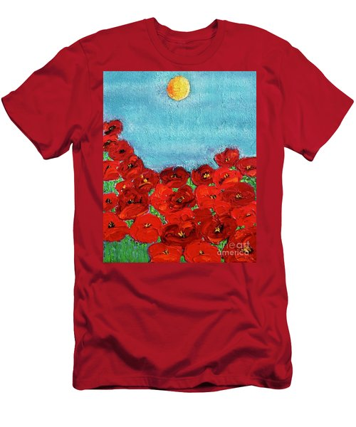 Sarah's Poppies Men's T-Shirt (Athletic Fit)
