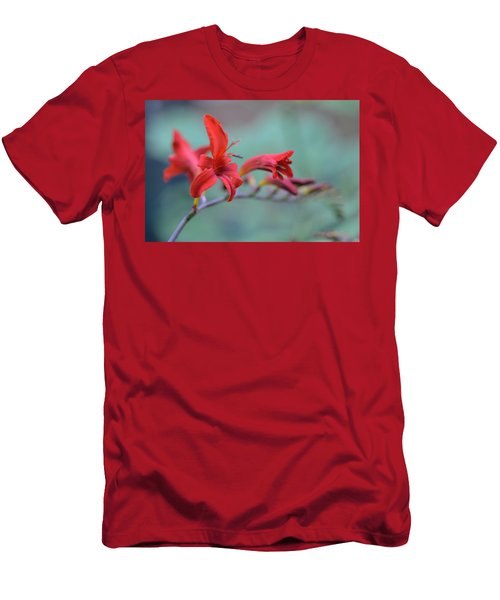 Scarlet Blooms Men's T-Shirt (Athletic Fit)