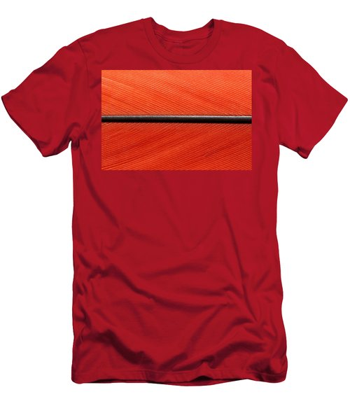 Scarlet Macaw Feather Men's T-Shirt (Athletic Fit)