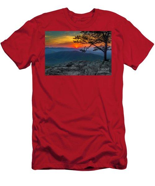 Scarlet Sky At Ravens Roost Men's T-Shirt (Athletic Fit)
