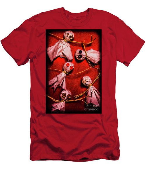 Scary Halloween Lollipop Ghosts Men's T-Shirt (Athletic Fit)