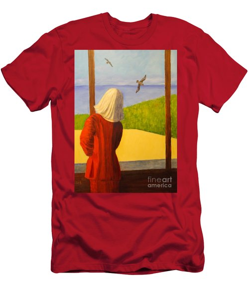Seagulls - Bookcover Men's T-Shirt (Athletic Fit)