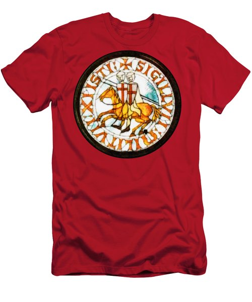 Seal Of The Knights Templar Men's T-Shirt (Athletic Fit)