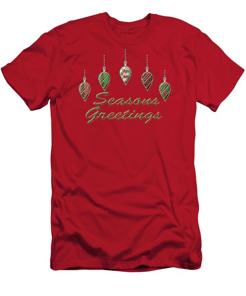 Seasons Greetings Merry Christmas Men's T-Shirt (Athletic Fit)
