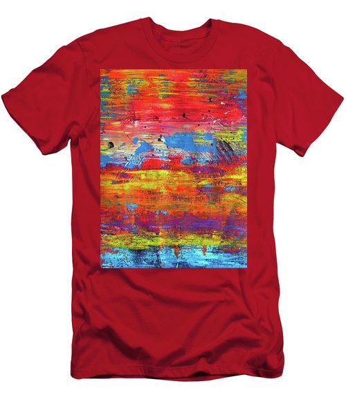 Men's T-Shirt (Slim Fit) featuring the painting Sedona Trip by Everette McMahan jr