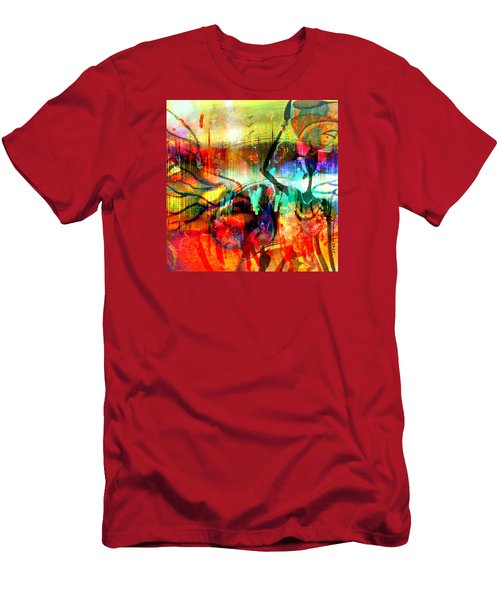 Men's T-Shirt (Slim Fit) featuring the mixed media Self Employed by Fania Simon