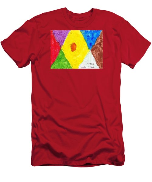 Men's T-Shirt (Slim Fit) featuring the painting Shapes by Artists With Autism Inc