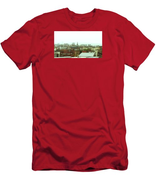 Men's T-Shirt (Athletic Fit) featuring the photograph Sheffield Skyline by Anne Kotan