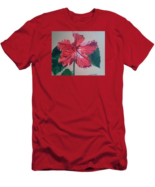 Shimmer - Red Hibiscus Men's T-Shirt (Athletic Fit)