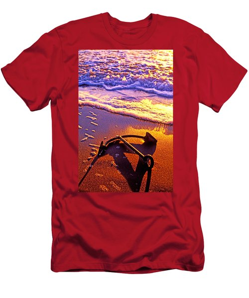 Ships Anchor On Beach Men's T-Shirt (Athletic Fit)
