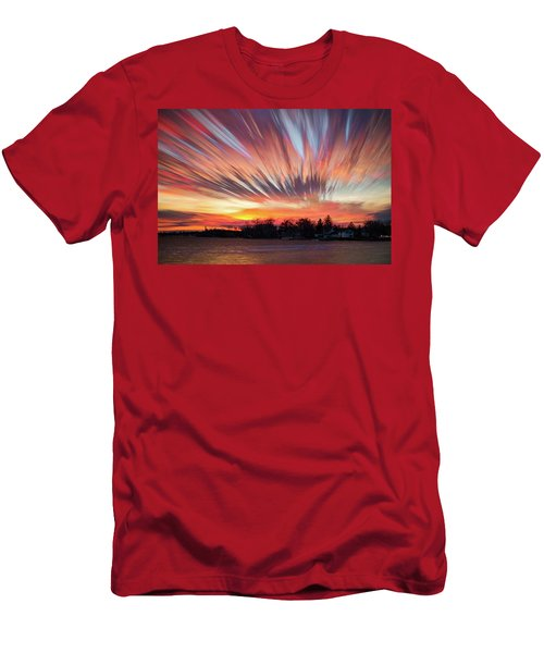 Shredded Sunset Men's T-Shirt (Athletic Fit)