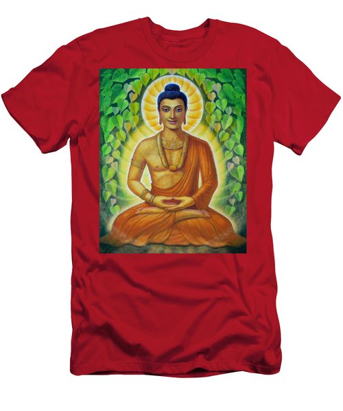 Men's T-Shirt (Slim Fit) featuring the painting Siddhartha by Sue Halstenberg