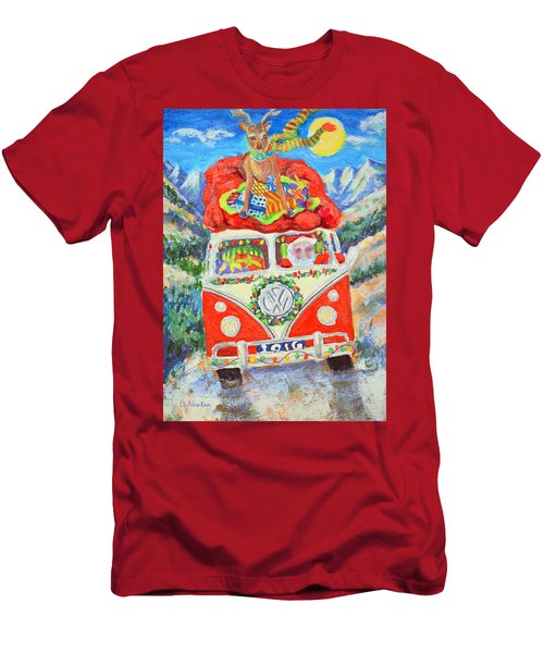 Men's T-Shirt (Slim Fit) featuring the painting Sierra Santa by Li Newton