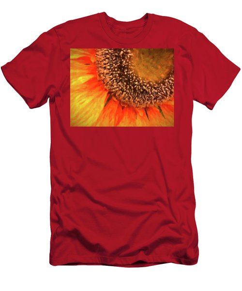 Men's T-Shirt (Athletic Fit) featuring the photograph Silk Sunflower by SR Green