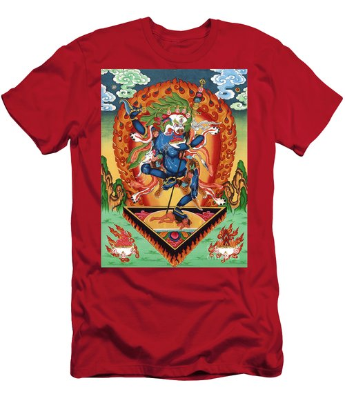 Simhamukha - Lion Face Dakini Men's T-Shirt (Slim Fit) by Sergey Noskov