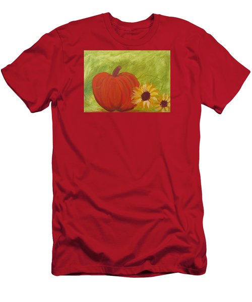 Simple Lone Pumpkin Men's T-Shirt (Athletic Fit)