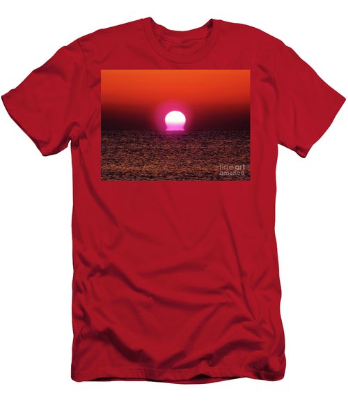 Men's T-Shirt (Slim Fit) featuring the photograph Sizzling Sunrise by D Hackett