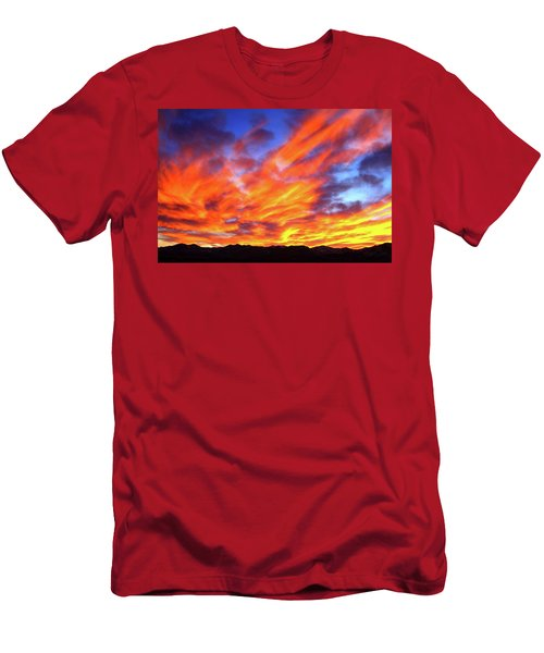 Sky On Fire #5 Men's T-Shirt (Athletic Fit)
